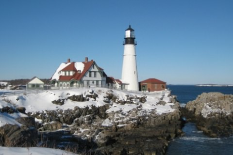 light house on the coast of maine where Reisert foundation funds grant applications